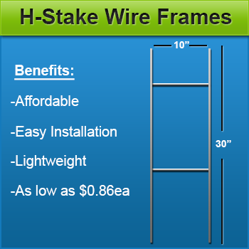 H Stake Wire Frame