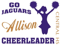Cheerleading Yard Sign Jaguars AllisonTemplate