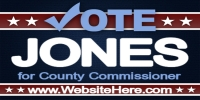 Political Event Banner County Commissioner Template