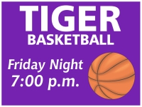 Tiger Basketball Yard Sign Template