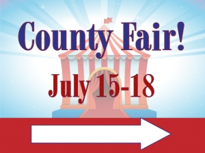 Fair Yard Sign County Fair Template