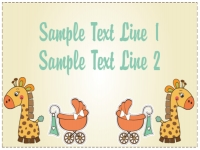 Baby Shower Yard Sign Giraffe & Baby Buggie Template