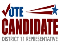 Political Yard Sign Vote District Representative Template