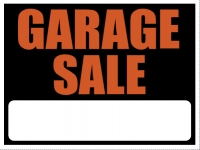 Garage Sale Yard Sign Black & Orange Template