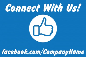 Social Yard Sign 'Connect with Us' Template