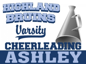 Cheerleading Yard Sign Highland Bruins Ashley Template