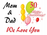 Anniversary Yard Sign Mom & Dad Anniversary Template