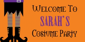 Halloween Sarah's Costume Party Template