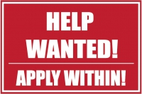 Help Wanted Yard Sign Apply Within Template