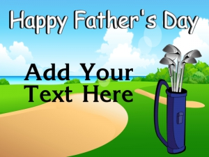 Father's Day Yard Sign Golfing Dad Template