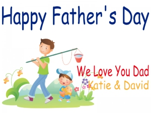 Father's Day Yard Sign We Love Dad Template