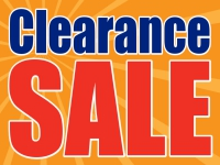 Clearance Sale Yard Sign Yellow Burst Template