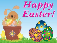 Easter Yard Sign Bunny & Eggs Template