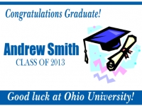 Graduation Yard Sign Cap & Diploma Template