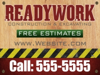 Tradesmen Yard Sign Readywork Template