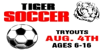 Soccer Sports Tiger Team Tryouts Template