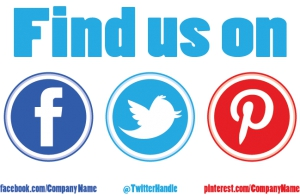 Social Yard Sign 'Find Us On' Template