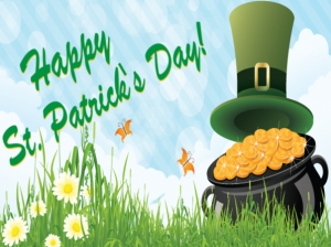 St Patricks Day Yard Sign Pot-of-Gold Template