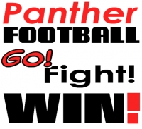 Football Yard Sign Panthers Go Fight Win! Template